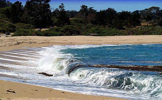 Churning Surf At Monastery Beach by Joyce Dickens