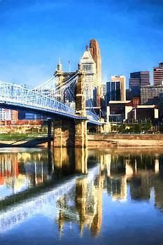 Mel Steinhauer - Cincinnati Skyline River Reflections