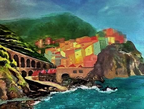 Cinque Terra Italy by Jan Moore