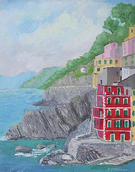 Cinque Terre Riomaggiore by Robert P Hedden