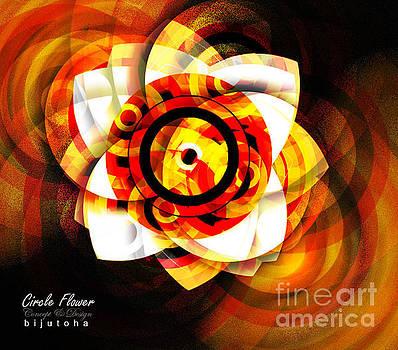 Circle Flower by Biju Toha