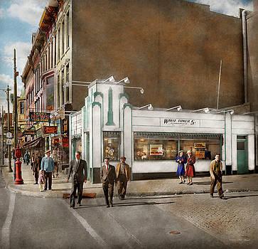 City - Amsterdam NY - Hamburgers 5 cents 1941 by Mike Savad