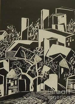 City by Moonlight - SOLD by Judith Espinoza
