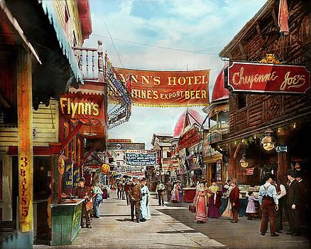 City - Coney Island NY - Bowery Beer 1903 by Mike Savad
