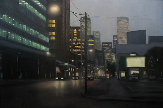 City Corner City Lights by Sharon Ramsay