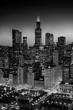 City Light Chicago B W by Steve Gadomski