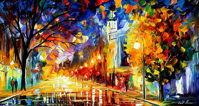 City Of Joy - PALETTE KNIFE Oil Painting On Canvas By Leonid Afremov by Leonid Afremov