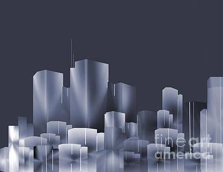 City Of Light 7 by John Krakora