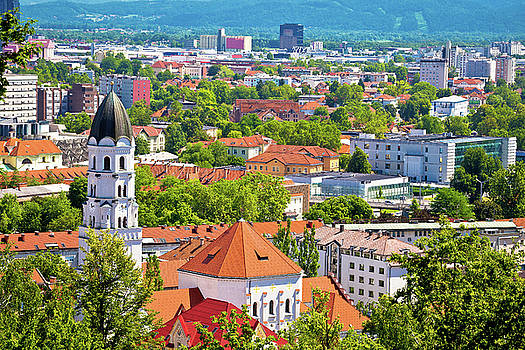 City of Ljubljana architecture and green landscape by Dalibor Brlek