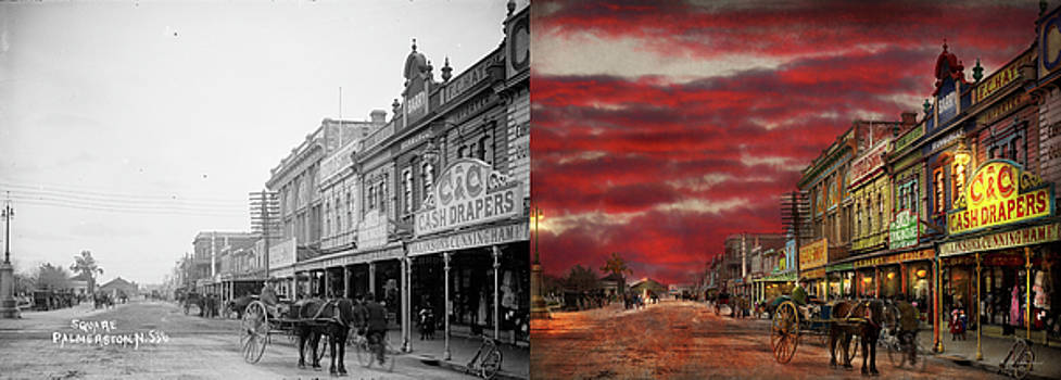 City - Palmerston North NZ - The shopping district 1908 - Side by Side by Mike Savad