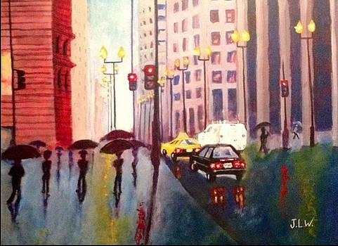 City rain 2 by Justin Lee Williams