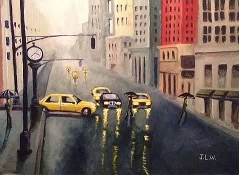 City Rain by Justin Lee Williams