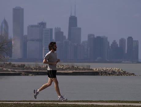 City runner by Jim Wright