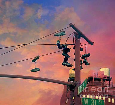 City Shoe Flinging by Beth Ferris Sale