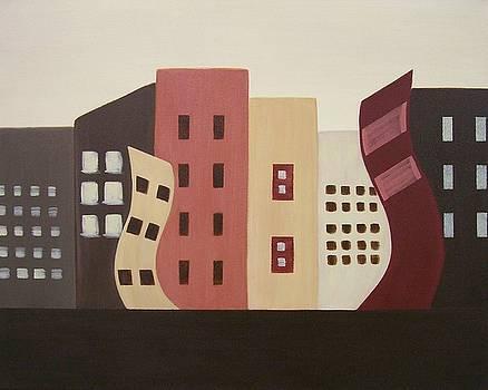 Cityscape on the Horizon 1 by Sandy Bostelman