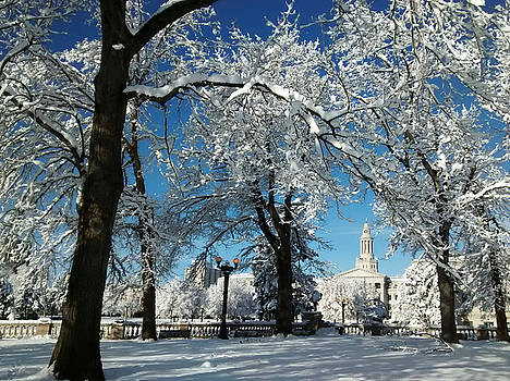 Civic Center After Blizzard by Marilyn Hunt
