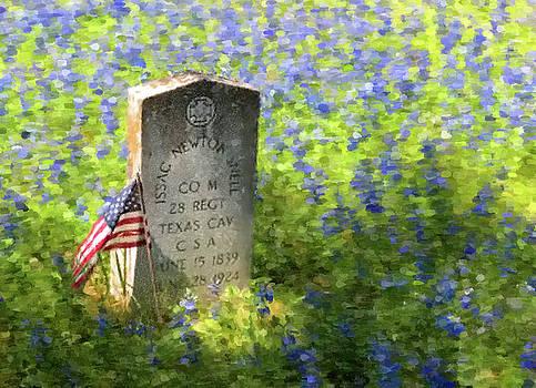 Civil War Gravestone by Gary Grayson
