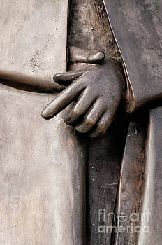 Clasped Hands - Sculpture Garden NOLA by Kathleen K Parker