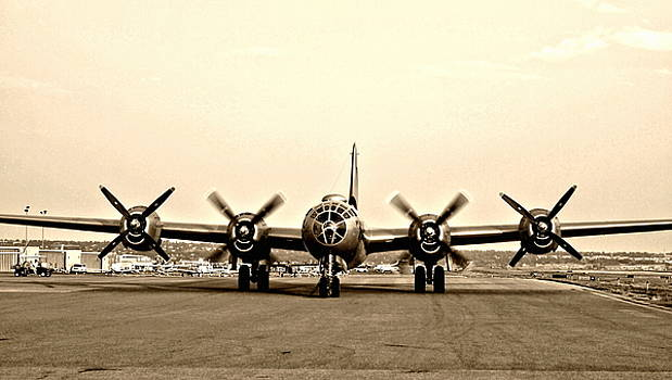 Classic B-29 Bomber Aircraft by Amy McDaniel