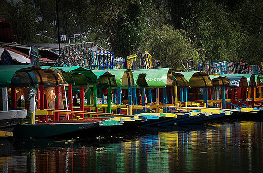 Classic Barges at Xochimilco by David Resnikoff