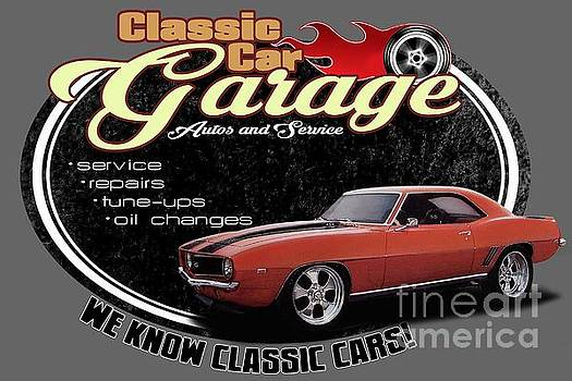 Classic Car Garage Camaro by Paul Kuras
