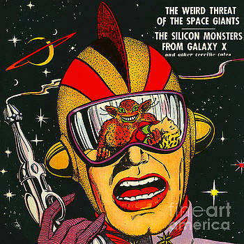 Wingsdomain Art and Photography - Classic Comic Book Cover Space Action August square