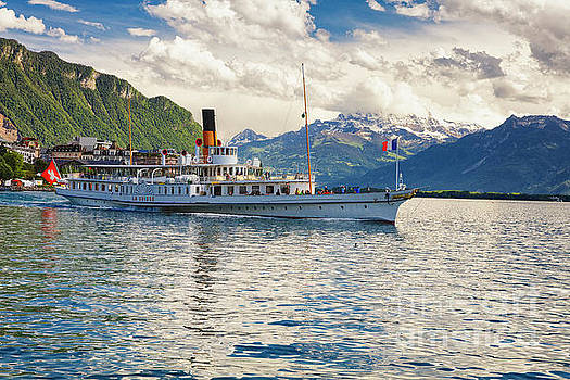 Classic Steamboat on Lake Geneva, by George Oze