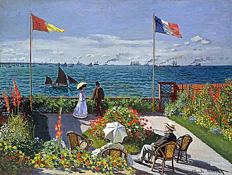Claude Monet - The Garden at Sainte-Adresse by Bishopston Fine Art