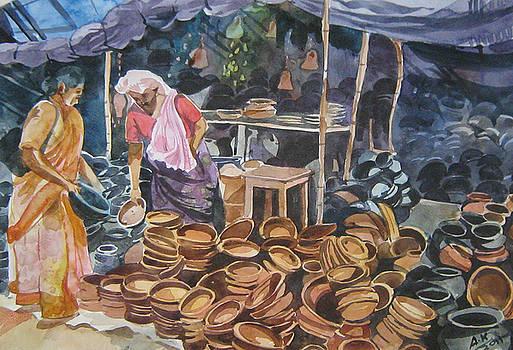 Clay Pot seller by Akhilkrishna Jayanth