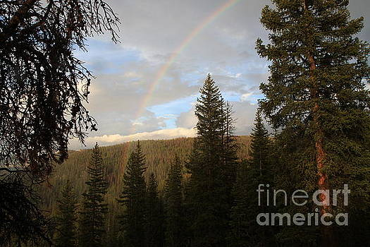 Clearing Rain and Rainbow by Edward R Wisell