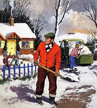 English School - Clearing the snow
