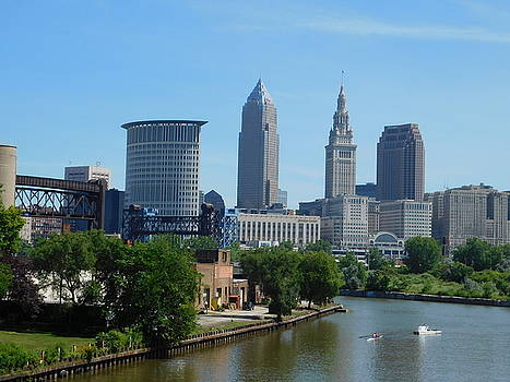 Cleveland OH Rolling on the River by Nancy Spirakus