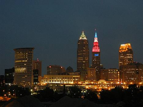 Cleveland Ohio USA RWB by Nancy Spirakus
