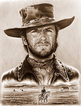 Clint Eastwood The Stranger by Andrew Read