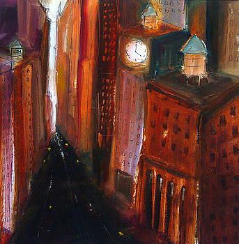Clock Canyon NYC by Richard Morin