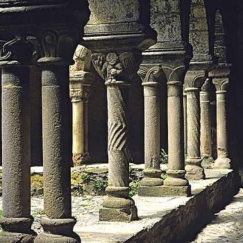 BERNARD JAUBERT - Cloister of Lavaudieu. Haute Loire. Auvergne