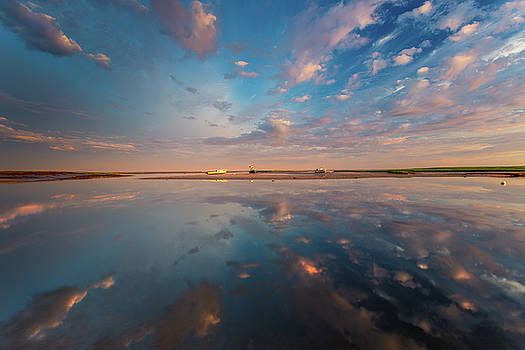 Cloud Reflections on Boat Meadow  by Dapixara Photo Art