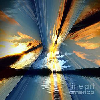 Cloud Sunrays by Elaine Hunter