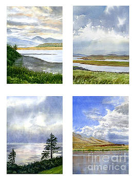Sharon Freeman - Clouds and Sky Reflections Watercolor Poster
