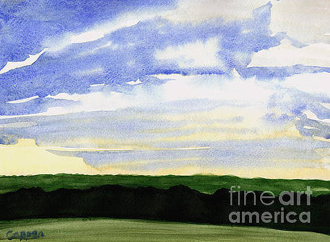 Clouds, Fields and Forest by Robert Coppen