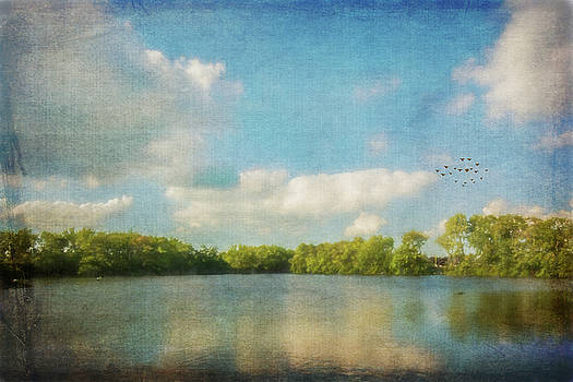 Clouds Over The Lake by Cathy Kovarik