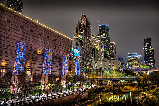 Cloudy Night in Houston by David Morefield