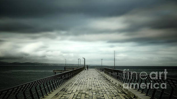 Cloudy Pier by Perry Webster