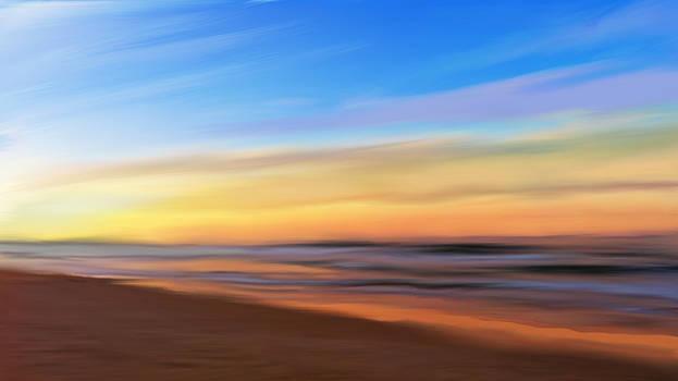 Coastal beach sunrise by Anthony Fishburne