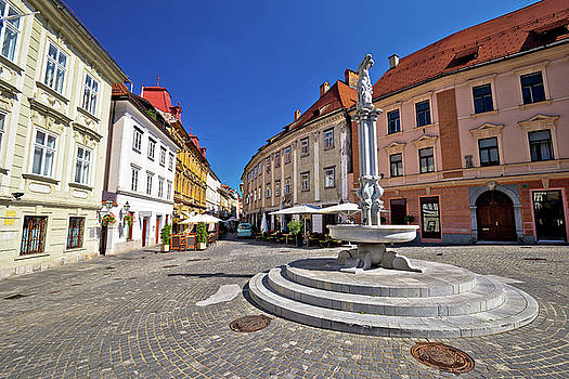 Cobbled streets of old Ljubljana by Dalibor Brlek