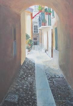 Cobblestone Alley by Paula Pagliughi