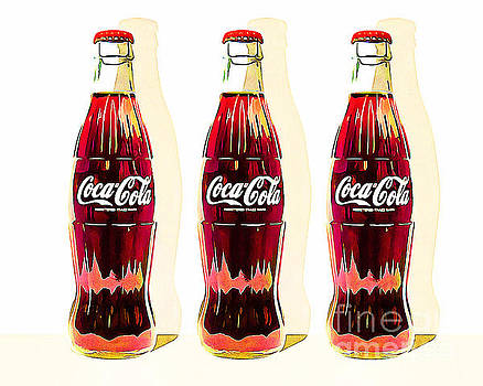 Wingsdomain Art and Photography - Coca Cola Coke Bottles Three 20160220v2