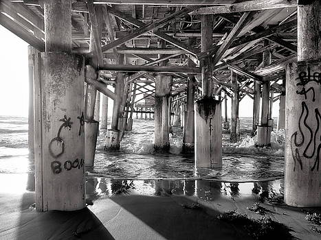 Cocoa Beach Pier BW by Luis Lugo