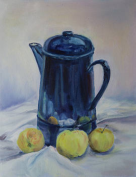 Coffee and apples by Kathryn Bell