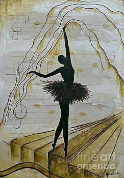 Coffee Ballerina by AmaS Art